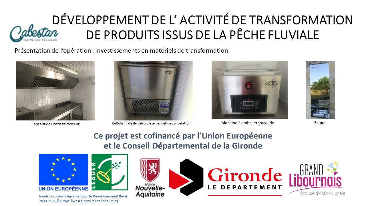 Affichage Soutien Europe LEADER Gironde et Grand ibournais CABESTAN  2019