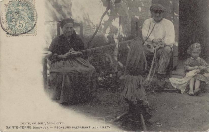 Les métiers autour de la pêche tisserand de filet